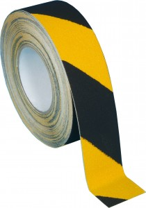 7 Black yellow hazard safety grip